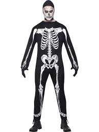 Halloween Skeleton Mens Skeleton Costume Halloween Skeletons Fancy Dress M L