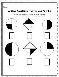 fractions halves thirds and fourths 45 no prep worksheets