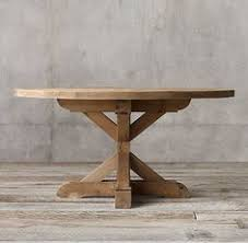 restoration hardware oval dining table salvaged wood weathered concrete x base breakfast table option