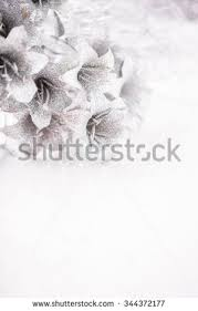silver flowers christmas new years silver flowers on stock photo 344372177