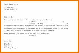 9 resignation letter example 2 weeks notice bibliography apa