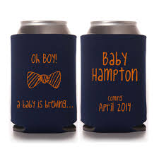 shower koozie baby shower favors oh boy a baby is brewing personalized can