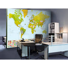 World Map Desk by Ideal Decor 100 In X 144 In Map Of The World Wall Mural Dm280