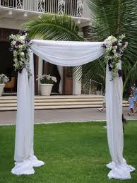 wedding arches columns weddings at the halekulani hotel hau terrace ballroom and