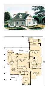 Wrap Around Porch Floor Plans Country Style House Plans One Floor Youtube Brick Farmhouse With