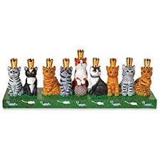 sports menorah the lovable hanukkah cat family menorah everything else