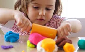Image result for toddler playing with playdough