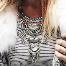 boho statement necklace images Jewels cherry diva necklace statement necklace silver necklace jpg