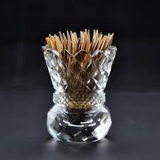 tooth pick holders amazon com kusak cut glass works crystal toothpick holder home