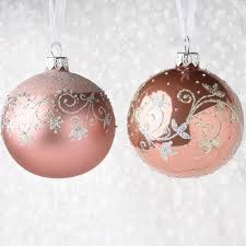 set of 12 translucent silver glitter ornaments robertson