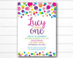 polka dot invitations polka dot invitation etsy