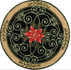 4 Foot Round Area Rugs by Poinsettia Christmas Tree Skirts Christmas Wikii