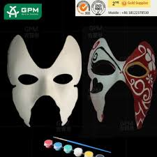 masquerade party masks high quality simple design recycled paper pulp party