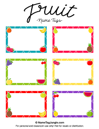 free printable fruit name tags the template can also be used for