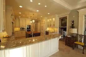 u shaped kitchen with peninsula wooden seat bars siding glass door