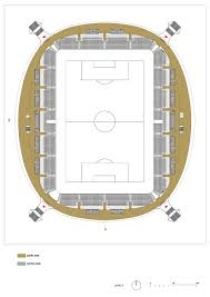 Cape Town Stadium Floor Plan by Ofis Arhitekti Completes Bulging Stadium For Fc Bate Borisov
