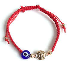 bracelet with red string images Red string bracelet kabbalah st benedict evil eye jpg