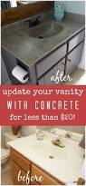 Diy Bathroom Vanity Makeover by Diy Vanity Makeover Using Concrete Overlay Concrete Vanities