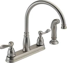 touchless kitchen faucet brushed nickel faucet ideas