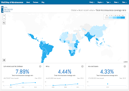 Blue World Map by Open Data To Insure The World U0027s Poorest U2014 Development Seed