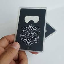 personalized bottle opener favor engraved credit card bottle opener with box personalized wedding