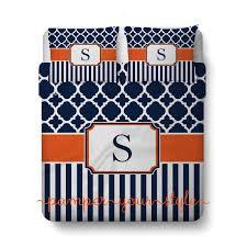 Monogrammed Comforters Personalized Duvet Or Comforter Moroccan Quatrefoil Lattice