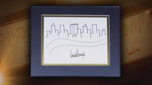 president trump u0027s sketch of new york city makes trump tower the