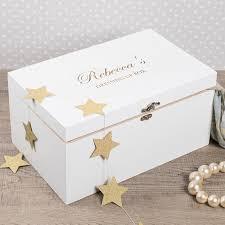personalised keepsake box personalised large white wooden keepsake box gettingpersonal co uk