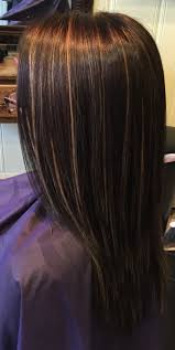 long brown hairstyles with parshall highlight dark brown hair with thin blonde highlights throughout hair i