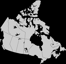 Canada Blank Map by Discover Our Canadian Showrooms California Closets