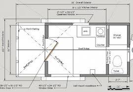 Post And Beam Floor Plans 8x16 Cross Gable Tiny House On A Trailer