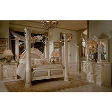 Aico Furniture Bedroom Sets by Monte Carlo Ii Silver Pearl Poster Canopy Bedroom Sets By Ai