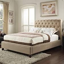 King Padded Headboard Bed Frames Wallpaper High Definition Upholstered Bedroom Sets