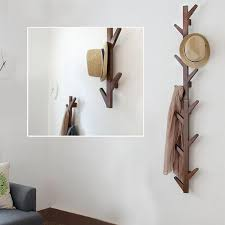 yazi vintage brown bamboo 6 branches tree style wall mounted