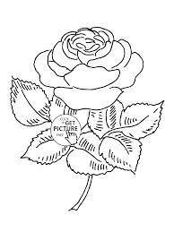 blooming rose coloring page for kids flower coloring pages