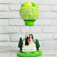 Wedding Gift Decoration Air Balloon Custom Wedding Cake Topper Gift Decoration Let Us