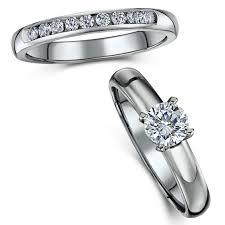bridal ring sets uk titanium bridal set cz engagement eternity ring bridal ring