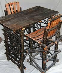 Rustic Pub Table Set Rustic Bars U2014 Barn Wood Furniture Rustic Barnwood And Log