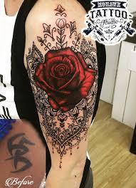mandala tattoo glasgow rose and mandala cover up tattoo glasgow glasgowtattoo