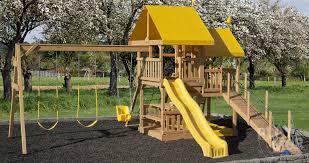 Backyard Swing Sets For Kids by Easy Fun Backyard Kids Play Sets Play Mor Swingsets In Ohio