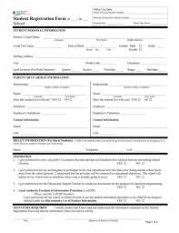 registration form daycare registration form sample registration