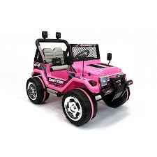 jeep pink xtreme 12v ride on off road 4x4 two seater jeep in pink xtreme toys