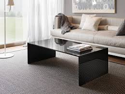 italian glass high end coffee table transparent glass material