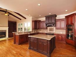 Two Color Kitchen Cabinets 90 Best Cherry Color Kitchens Images On Pinterest Cherry Kitchen