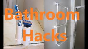 6 Brilliant Bathroom Hacks by 5 Bathroom Life Hacks With Pvc Pipe Youtube