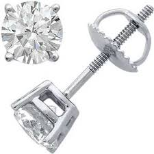 cubic zirconia earrings 14k solid yellow or white gold russian cz cubic zirconia stud