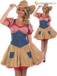 cowgirl costume ladies womens fancy dress wild west cowboy