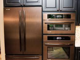 kitchen appliance colors copper refrigerator wall oven and wall microwave copper kitchen