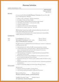 Example Of Pharmacy Technician Resume 10 Pharmacy Tech Resume Samples Address Example
