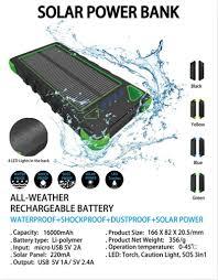 Solar Light Charging Circuit Powerbank 12000mah Solar Charger 3 7v Power Bank Mobile Battery